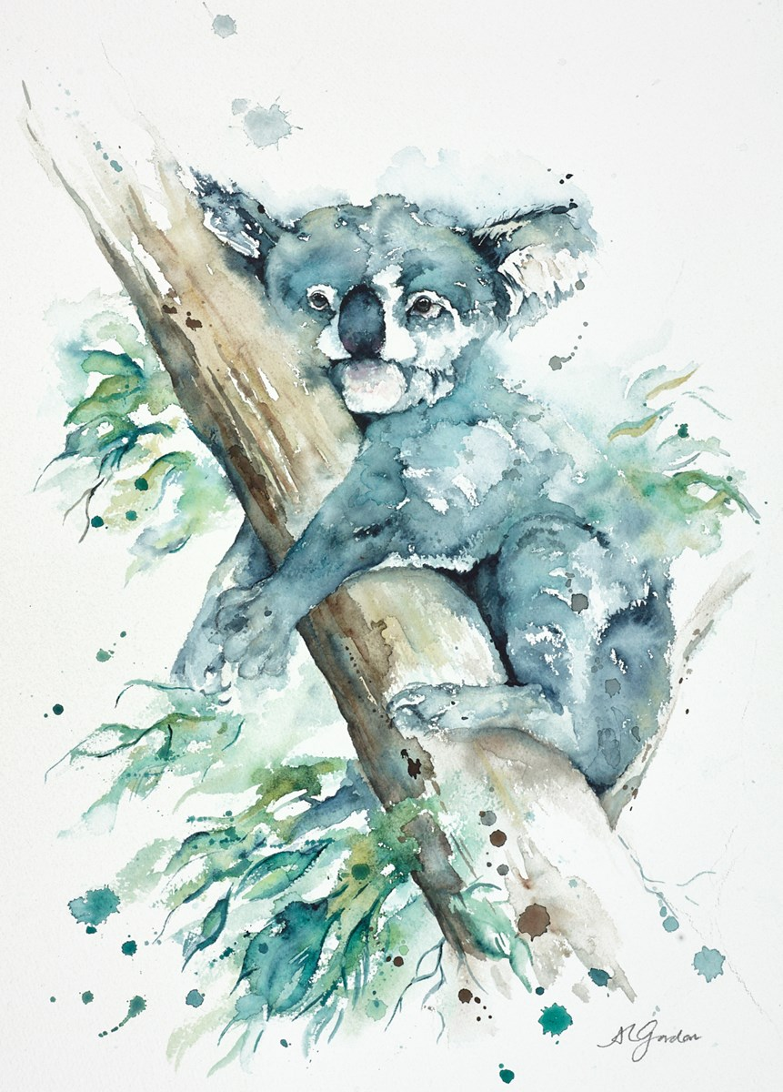 Snoozing in the Treetops by amanda gordon -  sized 14x20 inches. Available from Whitewall Galleries